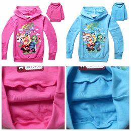 Wholesale Cartoon Hoodies Girls - boys girls hoodies spring children inside out clothing Hoodies Sweatshirts children cartoon outerwear free shipping in stock