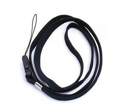 Wholesale Usb 16 Flash Drive - 4Pcs Black 16 Inch Neck Strap Cord Lanyard for Mp3 MP4 Cell Phone Camera USB Flash Drive ID Card AE01426 order<$18no track