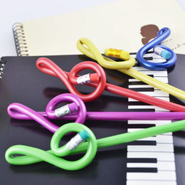 Wholesale Music Stationery Gifts - Stationery Gifts High Notes Pencil Children Pencil Art Pencils Fashion Music Sationery for Students 40pcs Color Mixed