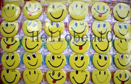 Wholesale Smile Face Button - Student Prize New Arrival! smiling face badge 45mm 480pcs lot cartoon fashion pin badge button gift Wholesale
