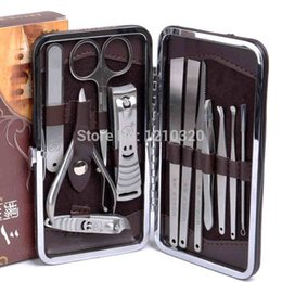 Wholesale Tools For Manicure Pedicure Kit - Wholesale-New Nails clipper stainless steel finger feet sets Kit 12PCS set Art Tools Clipper Manicure for hand pedicure pliers care tools
