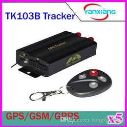Wholesale Crawler Tracks - 5pcs TK103B Car GPS tracker Tracking Car Alarm GPS Crawler Tracking Rastreador HOT Vehicle GPS Tracker sd card for Android Iphone ZY-DH-07