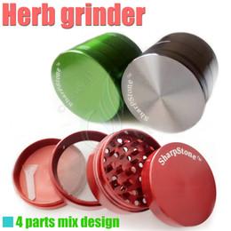 Parti vaporizzanti a erbe secche online-Grinder erba metallo Sharp Stone 4 parti 50mm a base di erbe cnc denti filtro a base di erbe rete secca vaporizzatore vaporizzatore vaporizzatore vapor e sigarette DHL LIBERA