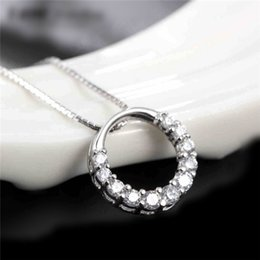 Wholesale Temperament Queen Necklace - foreign trade S925 sterling silver jewelry silver jewelry necklace temperament queen clavicle imitation diamond pendant