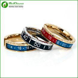 anello portautensili in acciaio inossidabile Sconti BC Jewelry Spedizione gratuita titanio ingranaggi in acciaio inossidabile onde tachimetro anello uomini anello polsino disegni BC-0058