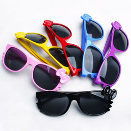 Wholesale Detachable Sunglasses - 2014 The new KT candy-colored children's hello kitty sunglasses boy and girl baby UV glasses child sunglasses Detachable lens