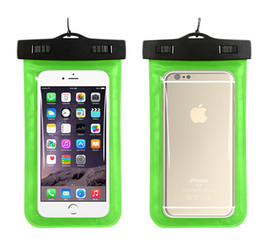 Wholesale s4 pocket - Universal Clear Waterproof Pouch Swim Diving Case Underwater Protector Colorful Soft Bag for iphone 6 plus 5s for Samsung S6 S5 S4