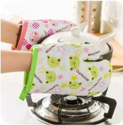 Wholesale Order Mixed Kitchen - Wholesale-Min Order $10(mixed order) creative cartoon animal anti-scalding microwave oven mitts lovely kitchen gloves 1689