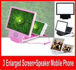 Wholesale Eye Expander - Universal Portable Folding Phone Screen Magnifier Amplifier 3D Expander Video enlarge eye treasure Eye Lens with speaker Display 3D Video