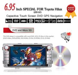 "Wholesale Car Dvd Player Toyota Hilux - 6.95"" 2 Din Android 4.4.4 Car DVD Player For Toyota Hilux (2012) 3G Wifi Bluetooth GPS Navigation Free 8GB Card CDVD0014"