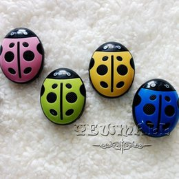 Wholesale Pink Ladybug - MP3 Players New Ladybug Music Player Portable 5pcs Mini with TF Card Slot High Quality 5 Colors Optional Free Shipping Hot Sell Best Quality