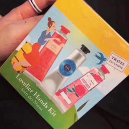 mini peonias Rebajas Nuevo paquete Famosa manteca de karité + peonía + crema de manos color de rosa con paquete de 6 piezas, mini lociones para manos, compras gratuitas 30 ml * 6 = 180 ml / caja