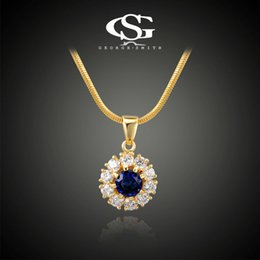 Wholesale George Necklaces - 015 2015 G&S George Smith 18K Gold Plated Cubic Zirconia Necklaces Jewelry Necklace Pendant Jewelry Statement Bib Necklace