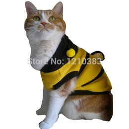 Wholesale Dog Dressed Bumble Bee - Wholesale-Dog Cat Pet Supplies Lovely Bumble Bee Dress Up Costume Apparel Coat Clothes TH88 ES88