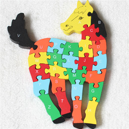 Wholesale Game Horse - Wholesale-Horse Wood 3d puzzle Infanto Game,Brinquedos Educativos Wooden Horse Toy For Children,Early Educational Toys Wooden Horse Puzzle