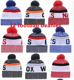 Wholesale Winter Hats Adults - 2017 New Arrival Beanies Hats American Football 32 teams Beanies Sports winter side line knit caps Beanie Knitted Hats drop shippping B08