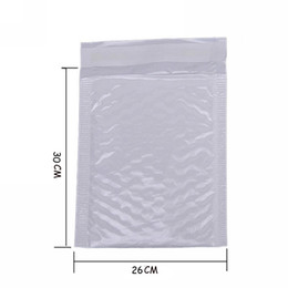 Wholesale pearl envelopes - Wholesale- 4X Kawaii Waterproof White Pearl Film Bubbel 26*30 Envelope Bulle Bag Mailer Padded Shipping Envelopes With Bubble Mailing Bags