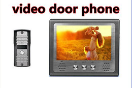 Wholesale Tft Monitor Wire - 4 wires video door phone Intercom with 7 inch TFT LCD screen, touch button design, unlocking monitoring functions