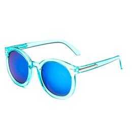 gafas de sol de forma redonda al por mayor Rebajas Al por mayor-Nueva llegada gafas de sol de la lente de cristal Hombres Mujeres gafas de moda gafas de sol en forma de gota redonda Envío de la gota Oculos De Sol Feminino