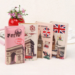 Wholesale Tower Cards Credit - Hot Sale Lady Purses Women Wallets Paris Eiffel Tower Pattern Brand Handbags Coin Purse Cards ID Holder Money Bags Clutch Wallet 01027