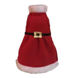 Wholesale Product Trees - Wholesale- Red Wine Apron Bottle Cover Bags Christmas Table Decoration XMAS Home Party Decor Product 0004