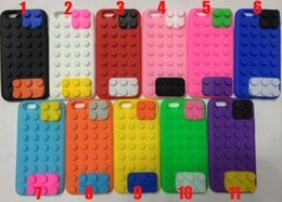 Wholesale Shell Block - 3D Building Blocks Silicone Case Cover Soft Rubber Shell Skin for iPhone 6 4.7 Plus 5.5 inch