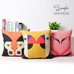 "Wholesale Linen Baby Pillow Cases - New Monkey Flamingo Birds Baby Room Linen Pillow Case 18""x18"""