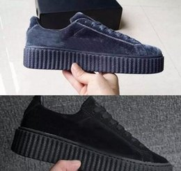 Wholesale Womens Polka Dots - 2018 NEW BASKET CREEPERS GLO RIHANNA SNEAKERS CASUAL WOMEN 'S SPORTS RUNNING JOGGING SHOES WOMENS FASHION CLASSIC SHOES 36-44