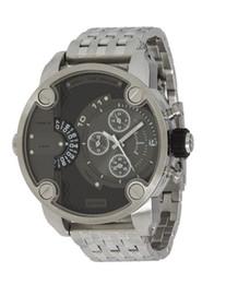 Wholesale Luxury Watches Chrono - Freeshipping DZ7259 Men's Luxury Quartz Watches Dress Watches 2 Time Zones Chrono Mens Watches DZ 7259 With Original Box