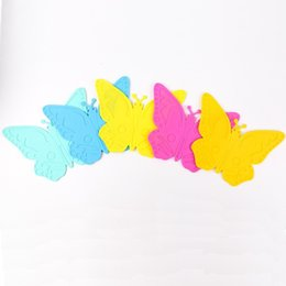 Wholesale Fashion Coasters - Fashion Silica Gel Coaster Butterfly Shape Heat Insulation Cup Placemat Non Slip Resuable Silicone Table Mat Creative 1 81zy B