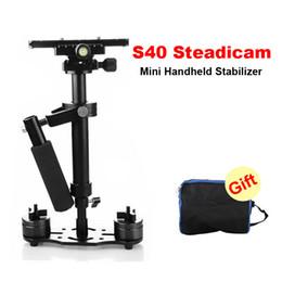 Wholesale Dslr Handheld - DHL S40 40cm Professional Handheld Stabilizer Steadicam for Camcorder Digital Camera Video Canon Nikon Sony DSLR Mini Steadycam