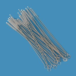 Wholesale Soft Spiral Rollers - Stainless steel spiral straw soft bristle brush pipe brush does not hurt the straw straw bottle glass all available