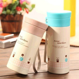 Wholesale Girls Thermos - Cartoon Thermos Bottle Thermal Cup Stainless Steel Vacuum Flasks Portable Sealed Portable Cup With Sling Suit For Child Girl