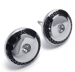 Wholesale Mens Cross Earrings Studs - Stainless Steel Mens Stud Earrings Set Color Silver Black Drop Shipping