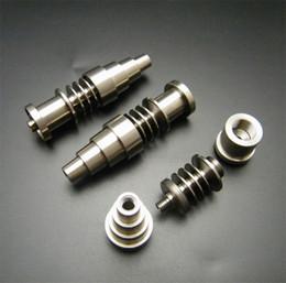 керамическое покрытие Скидка 10/14 / 18mm 6 в 1 Domeless Titanium E-ногте Ti ногтя Gr2 для катушки Enail 16mm или 20mm против керамического ногтя кварца ногтя