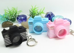 Wholesale Toys Keychain Camera - 2016 new Camera Flash Light LED Key Chains Shutter Sound Toy keychain New 3 colors Promotion gift free shipping