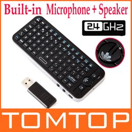 Wholesale Ipazzport Air Voice - Wholesale-iPazzPort Fly Air Mouse Voice Wireless Remote Keyboard Combo RF 2.4G Mini Bulit-in Mic