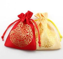 Scatola di dolci di cerimonia nuziale cinese online-50PCS / LOT all'ingrosso Regali di nozze del partito favoriscono la cassa della borsa del sacchetto di caramella Sacchetto dolce di stile cinese del miele dolce colori misti Vendita calda