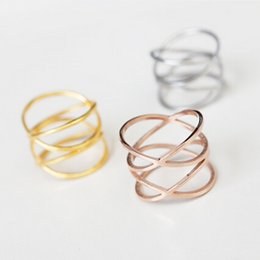 Wholesale Finger Ring Patterns - HOT 2016 New Pattern Roman Number Punk Rock Finger Rings Stainless Steel Ring Fashion horrow out Jewelry Rose Gold Rings For Women