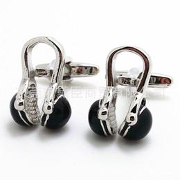 Auricular francés online-Mancuernas de ropa popular pequeño punto mezclado lote de mancuernas de color negro de auriculares manguito francés CZ