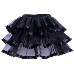 Wholesale Sexy Dance Performance Costumes - Gothic Sexy Woman Rave Party Costume Cosplay Skirt Organza Net Ballet Stage Performance Dance Corset Suits Tutu Skirt Petticoat