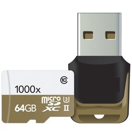 Wholesale Memory Cards Gb Wholesale - 2015 32 GB 64 GB 128 GB microSDXC UHS-II 1000X High-Performance U3 Memory Card & USB3.0 Reader 2-Pack 150MB s for tablet PC