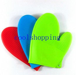 Wholesale Wholesale Oven Mitts Pot Holders - Heat Resistant Silicone Glove Cooking Baking BBQ Oven Pot Holder Mitt Kitchen oven mitt