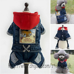 Wholesale Dog Suspender Small - Brand New Design Pet Clothes Dog Clothing Dog Bib Jeans Suspenders for small medium dog cat Autumn and winter pet four foot jeans