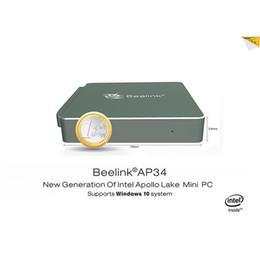 Wholesale Tv Hdmi Linux - High quality MINI PC Beelink AP34 Intel Processor N3450 4GB 64GB Windows10 &Linux 1000M 2.4G 5.8GWIFI BT4.0 smart box