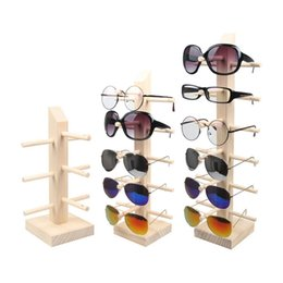 Wholesale Wood Glass Rack - Mordoa Nature Environmental Protection Wood 3 4 5 6Pair Glasses Display Rack Display Holder Tree Shelf Display Stand Sun Glasses