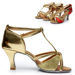Wholesale Dance Shoes 41 - Wholesale-Hot sale 34~41 adult soft sole summer sandals for girls dancing shoes women's ballroom tango salsa latin dance shoes 7cm 5cm