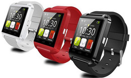 Wholesale S4 Watch - 2 015 New Bluetooth Smart Watch U8 Wrist Smartwatch for iPhone 6 Plus 5 5S Samsung S4 S5 S6 Note 3 HTC Android SmartPhones DHL Free