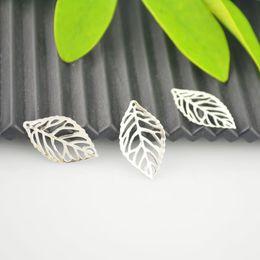 """Scoperta - Pendenti con pendenti con pendenti in foglia cava placcati argento 500x4 (1 """"x4 / 8"""") Creazione di gioielli da lunghi branelli in argento fornitori"""