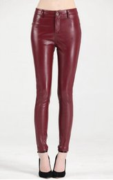 Wholesale Leather Tights Leggings Zipper - Women winter in Europe and the new han edition quality goods more elastic and velvet tight leggings thin leather pants. S - 4xl